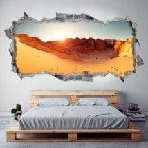 Vinilos 3D Panorámica Desierto