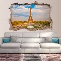 Vinilos 3D París Torre Eiffel