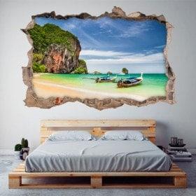 Vinilos 3D Playa Railay Tailandia