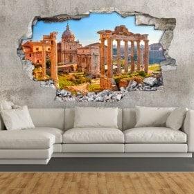 Vinilos 3D Ruinas Romanas En Roma