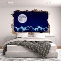 Vinilos 3D Luna Llena