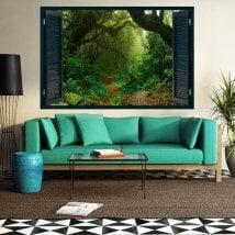 Ventanas De Vinilo 3D Naturaleza Mágica