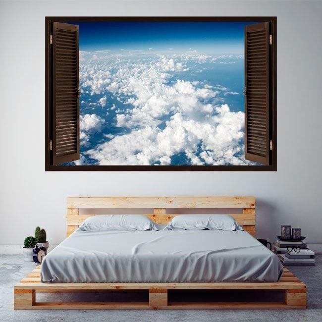 Ventanas De Vinilo Nubes En El Cielo