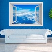 Ventanas 3D Nubes En El Cielo