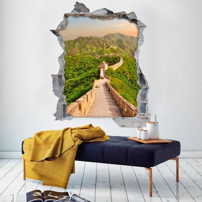 Vinilos 3D Gran Muralla China