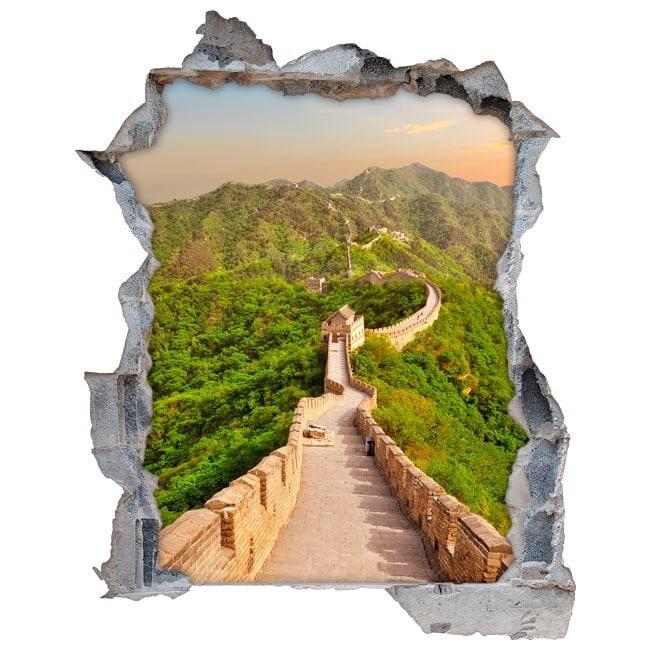 Vinilos 3d gran muralla china for Vinilos para murallas