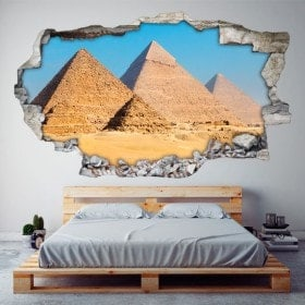 Vinilos 3D Pirámides De Guiza