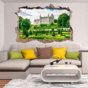 Vinilos 3D Castillo De Dunrobin Escocia