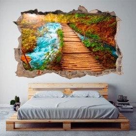 Vinilos 3D Pared Rota Camino Naturaleza