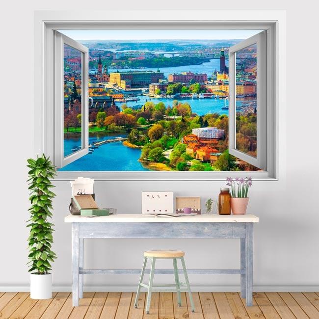 Ventana De Vinilo 3D Estocolmo