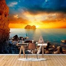 Fotomural Pared Atardecer En El Mar
