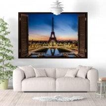 Ventanas De Vinilo París Torre Eiffel
