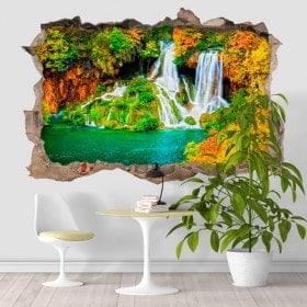 Vinilos 3D Cascadas Naturaleza