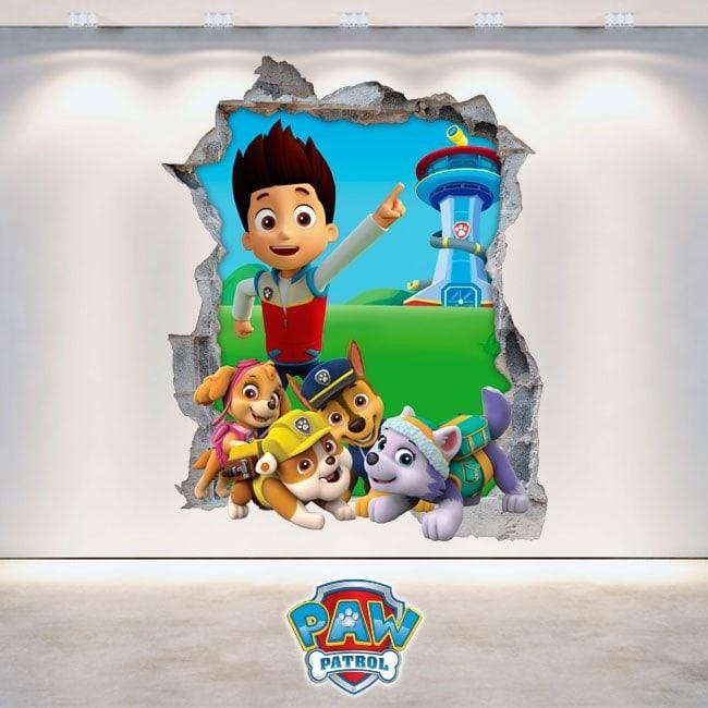 Pegatinas La Patrulla Canina 3D