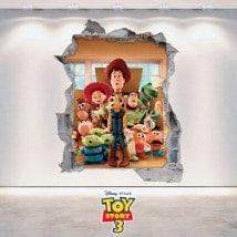 Vinilo Infantil Toy Story 3D