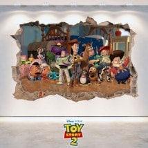 Vinilos Infantiles 3D Toy Story 2