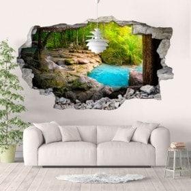 Vinilos 3D Cascadas Y Naturaleza