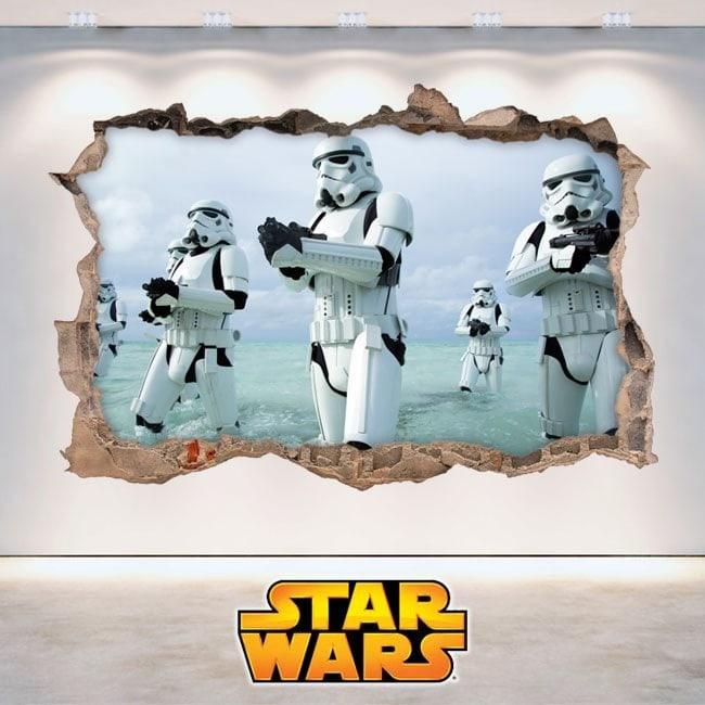 Pegatinas de pared star wars 3d for Pegatinas vinilo pared