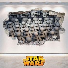 Pegatinas 3D Star Wars Soldados Clones