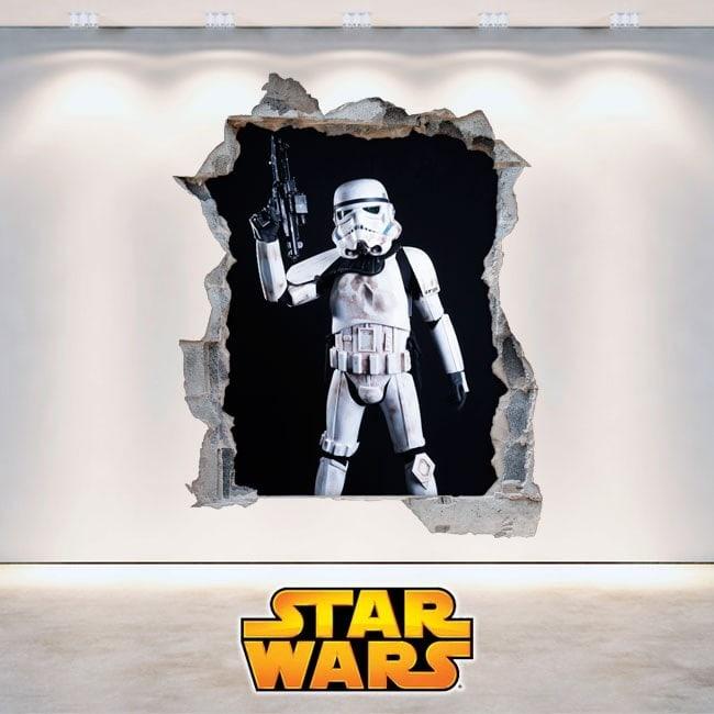 Vinilos Star Wars Soldados Clones 3D
