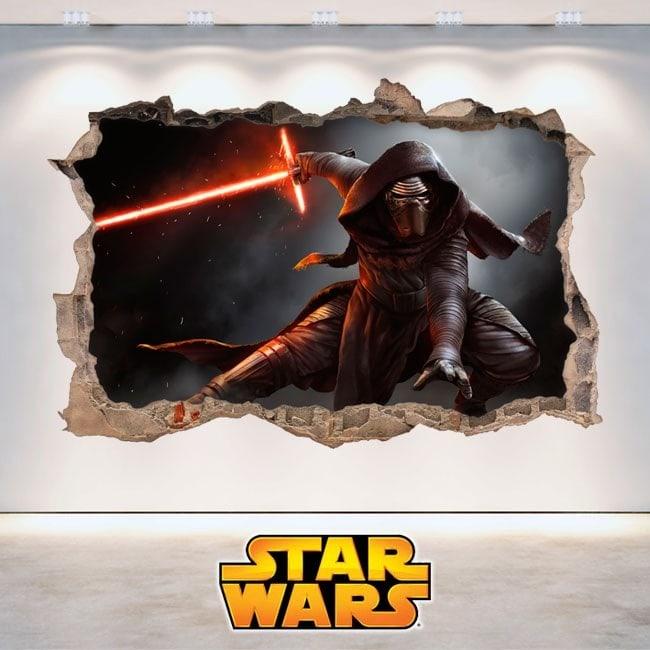 Adhesivos Star Wars Kylo Ren 3D