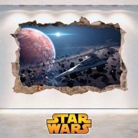 Vinilos Paredes Star Wars Agujero 3D