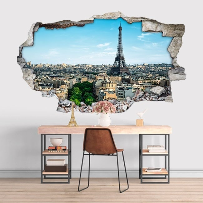 Vinilos 3D Torre Eiffel