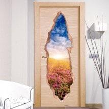 Pegatinas Puertas Flores En Las Montañas