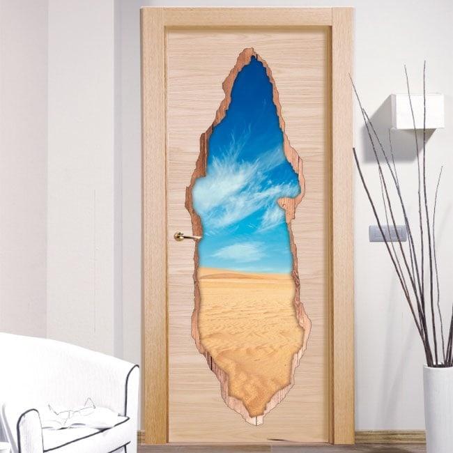 Vinilos Puertas Desierto 3D