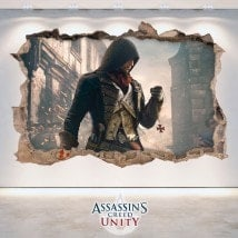 Vinilos Decorativos 3D Assassin's Creed Unity