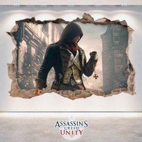 Vinilos Decorativos 3D Assassin's Creed Unity
