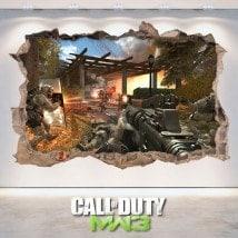 Vinilos Y Pegatinas 3D Call Of Duty Modern Warfare 3