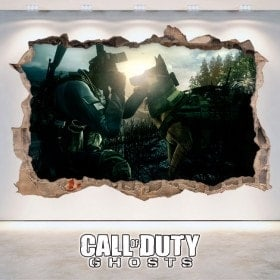 Vinilos Decorativos 3D Call Of Duty Ghosts