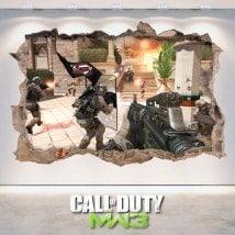 Pegatinas Videojuegos 3D Call Of Duty Modern Warfare 3
