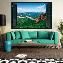 Ventanas En Vinilos 3D La Gran Muralla China