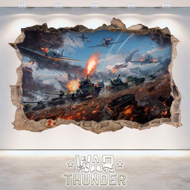 Vinilos Decorativos 3D War Thunder Tanks Battle
