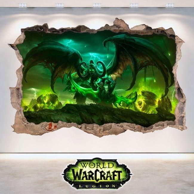Vinilos 3D World Of Warcraft Legion