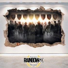 Pegatinas 3D Tom Clancy's Rainbow Six Siege Pro League