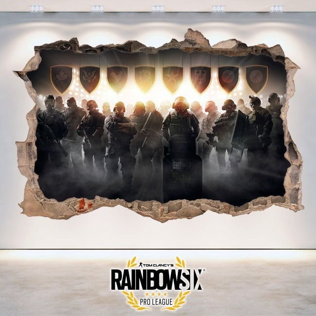 Pegatinas 3D Tom Clancy's Rainbow Six Siege Pro League