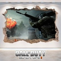 Vinilos Decorativos 3D Call Of Duty Black Ops 2