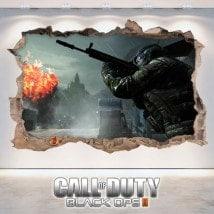 Vinilos Decorativos 3D Call Of Duty Black Ops 2
