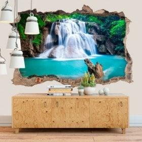 Vinilos Decorativos Cascadas Huay Mae Kamin 3D