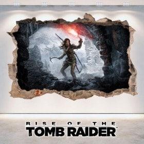 Vinilos Decorativos 3D Rise Of The Tomb Raider