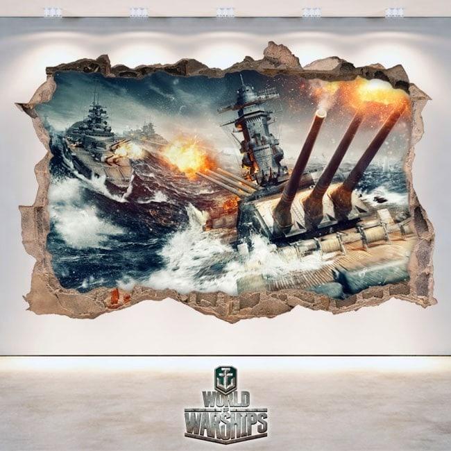 Vinilos Decorativos 3D World Of Warships