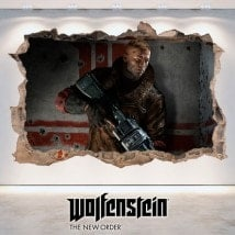Vinilos Decorativos 3D Wolfenstein The New Order