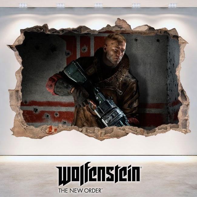 Vinilos Decorativos 3D Wolfenstein The New Order