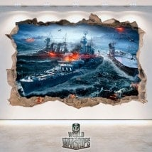 Vinilos Y Pegatinas 3D World Of Warships
