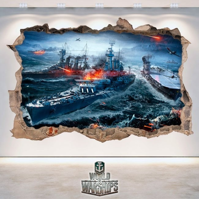 Vinilos Y Pegatinas 3D World Of Warships