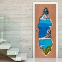 Vinilos Para Puertas Liguria Italia 3D