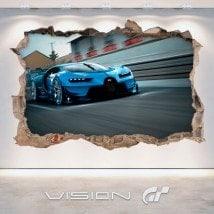 Vinilos 3D Bugatti Vision Gran Turismo